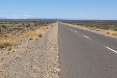 Road to the horizon through the Karoo Royalty Free Stock Photography