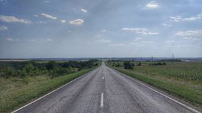 Road to the Horizon, Highway, Travel Royalty Free Stock Images