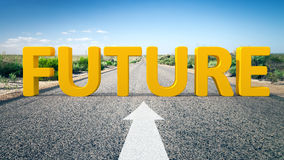 Road to horizon and the word future Royalty Free Stock Images