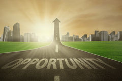 The road to improve opportunity stock illustration
