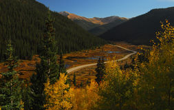 Road to Independence. A road trip to Independence Pass in Fall stock images