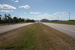 Road to Infinity. Long straight road in Uruguay Royalty Free Stock Photos