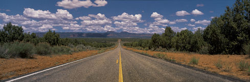 Road to infinity in American West Stock Images