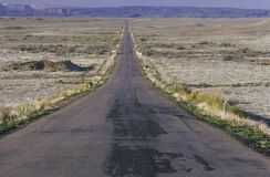 A road to infinity in Southern Utah Royalty Free Stock Photos