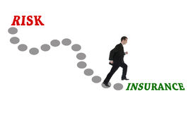 Road to Insurance. For man in suit Stock Photography