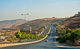 Road to Jarash. On the road to Jarash archaeological site Stock Image