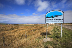 Way to the John O'Groats the northern side of the land UK Stock Photography