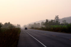The Road. To Kangkracharn national park and dam Royalty Free Stock Photos