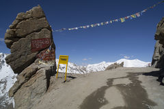 Road to Kardung La in Ladakh Stock Photo