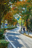 The Road to Kitano District in KObe, JApan Royalty Free Stock Image