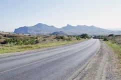 Road to Koktebel Stock Photo