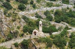 Road to Kotor fortress. Montenegro Stock Image
