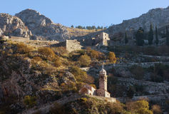 Road to Kotor fortress. Montenegro Stock Photography