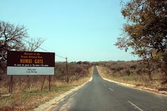 Road to Kruger Park. Road to the Kruger National Park in South Africa Stock Photo