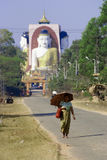 Road to the Kyaikpun Pagoda, Bago, Myanmar Royalty Free Stock Photography