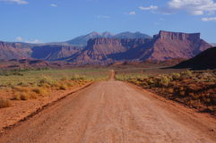 Road to the La Sal Mountains, Utah Royalty Free Stock Photos