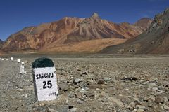 Road to Ladakh Stock Photography