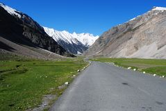 Road to Ladakh mountain peak Royalty Free Stock Photos
