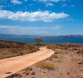 The road to Lake, Kenya Royalty Free Stock Image