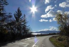 Road to Lake Prespa, Macedonia. Picture of a Lake Prespa, Macedonia Royalty Free Stock Photo