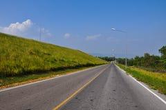 The road to Lamtakong dam Royalty Free Stock Image
