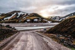 Free Road To Landmanalaugar On Highlands Of Iceland. Royalty Free Stock Images - 211410889