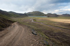 Road to Landmannalaugar Royalty Free Stock Image