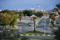 Road to Larnaca airport. Old terminal Stock Photography