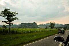 Road to las Vinales Royalty Free Stock Photo