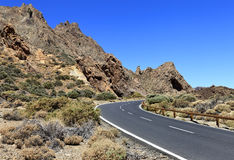 Road to leading to the Volcano Teide Stock Photography