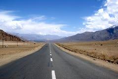 Road to leh ladhak. Road to leh and ladhak in India royalty free stock photos