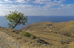 The road to the lighthouse. Crimea. Royalty Free Stock Photo