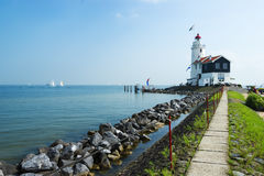The road to lighthouse Stock Photography