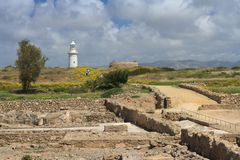 The road to the lighthouse in Paphos. Cyprus Stock Photo