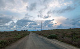 Road to Lighthouse at Piedras Blancas point on the Central California Coast north of San Simeon California Royalty Free Stock Image