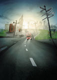 Road to London stock illustration