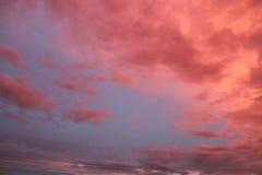 Blue sky+orange cloud =when the sun meet the night Stock Photo