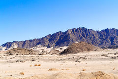 Road to Luxor from Safaga. Royalty Free Stock Images