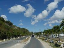 Road to Maho Bay, St. Martin Royalty Free Stock Images