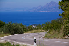 Road to Makarska Stock Photo