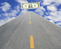 Road to make money Royalty Free Stock Photos