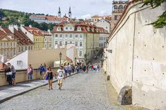The road to Mala Strana Stock Image