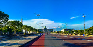 The road to Malaysia Prime Minister Office or Perdana putra. Stock Images