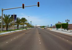 The road to the Marina mall in Abu Dhabi Royalty Free Stock Image