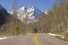 Road to Maroon Bells Royalty Free Stock Photography