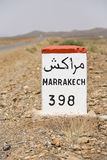 Road to Marrakech. On the road to Marrakech, Kingdom of Morocco, North Africa royalty free stock image