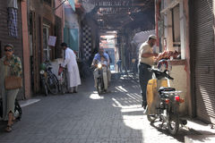 The road to Marrakech. Road of Marrakech in the Medina royalty free stock photography