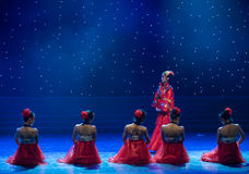 The road to marry-Chinese folk dance. May 15, 2016, from Jiangxi province around the dancers gathered to exchange skills. At the Nanchang Repertory Theater Stock Photo