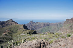 The road to masca on tenerife Stock Photos