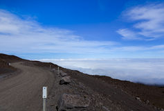 Road to Mauna Kea Royalty Free Stock Image